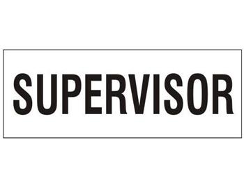 Hard Hat SUPERVISOR Decal Labels