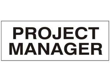 PROJECT MANAGER, Hard Hat Labels