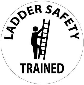 Ladder Safety Trained, Hard Hat Labels