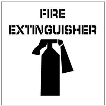 FIRE EXTINGUISHER, Floor Stencils