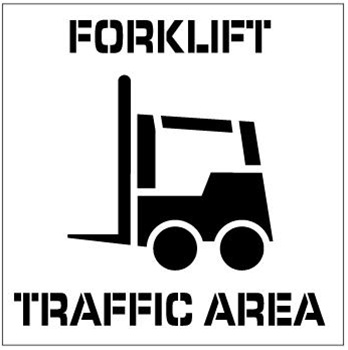 FORKLIFT TRAFFIC AREA, Floor Stencils