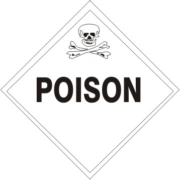 POISON Shipping Label