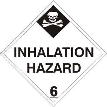 INHALATION HAZARD CLASS 6 Shipping Labels