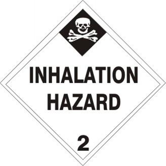 INHALATION HAZARD CLASS 2 Shipping Labels