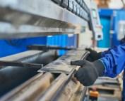 hydraulic press brake missing guarding controls