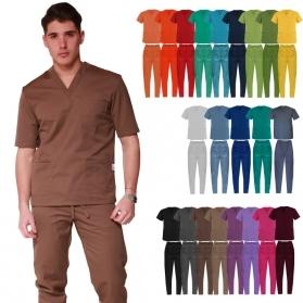 casacca-scollo-a-v-pantalone-con-elastico-tuta-tutina-medicale-sanitaria-infermire-oss-asa-22-colori