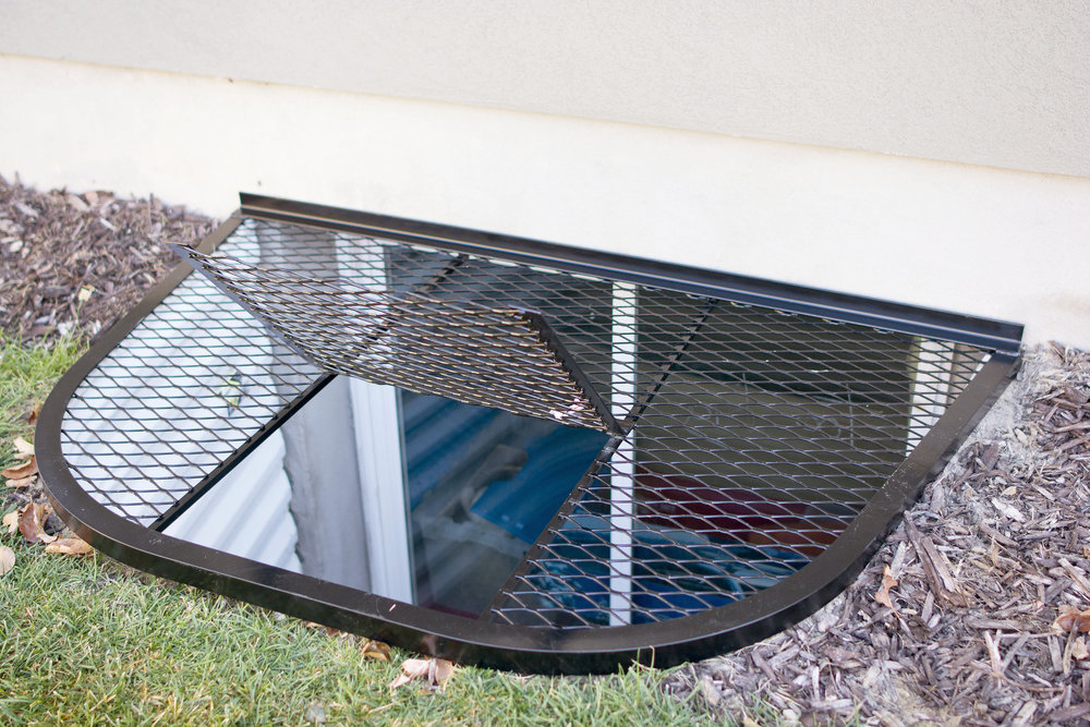 Wire Mesh Window Well Covers with Escape Door  Safewell