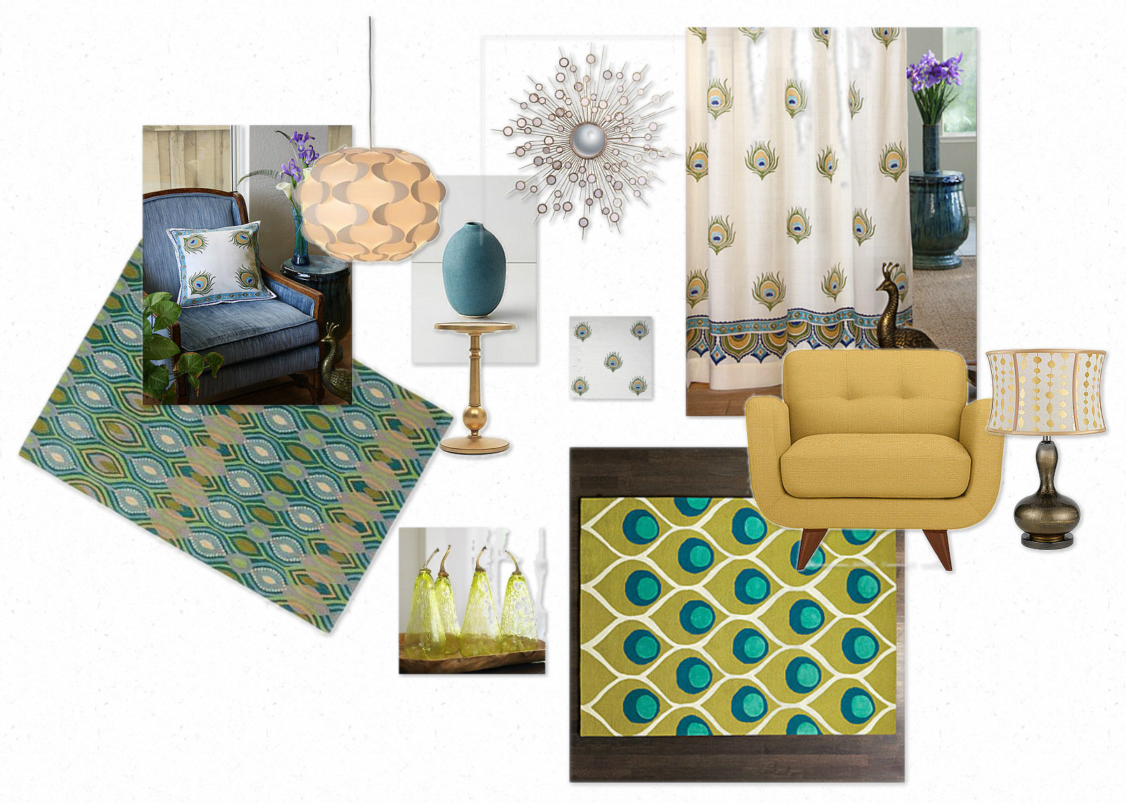 peacock inspired living room paint colours for rooms 2018 update saffron marigold turquoise curtains throw pillows rugs furniture