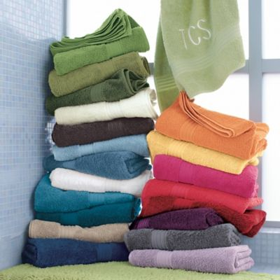 peacock colored bath towels