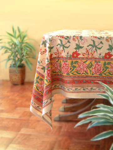 Colorful Tropical Floral Table Cloth