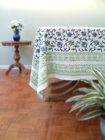 Christmas Green Tablecloth