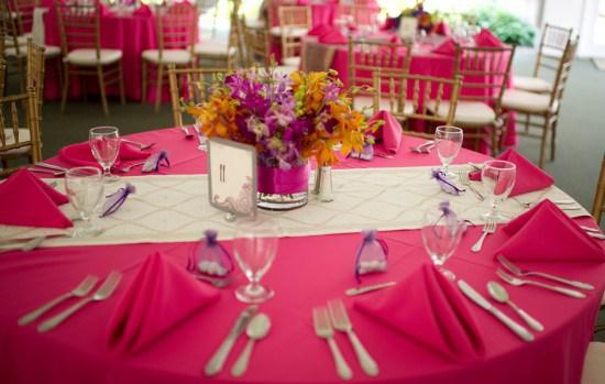 White_gold_wedding_table_runner_round_table.  White_gold_wedding_table_runner_round_table