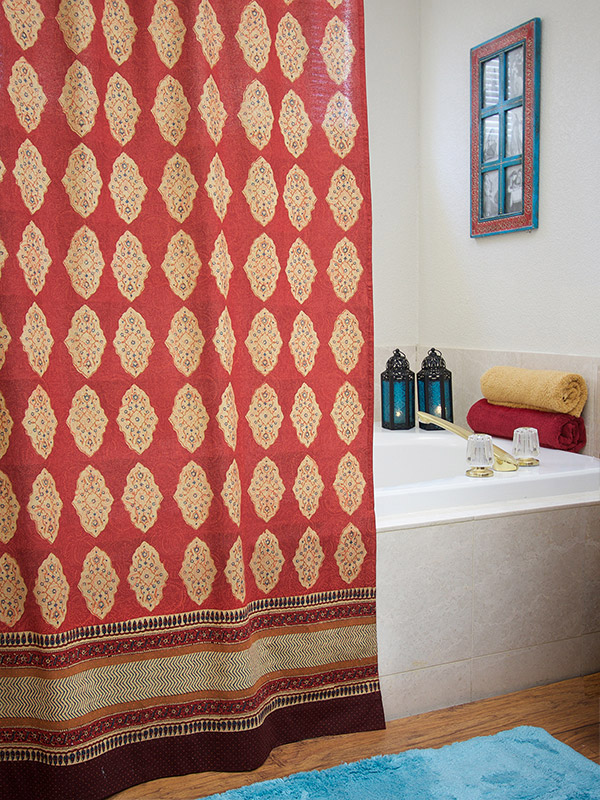 Warm Up Your Bath With A Spicy Global Shower Curtain