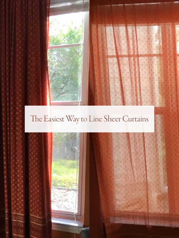 line sheer curtains