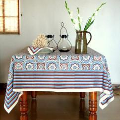 Large Round Kitchen Table Franke Faucets Blue Tablecloth, Brown Beach Tablecloth ...