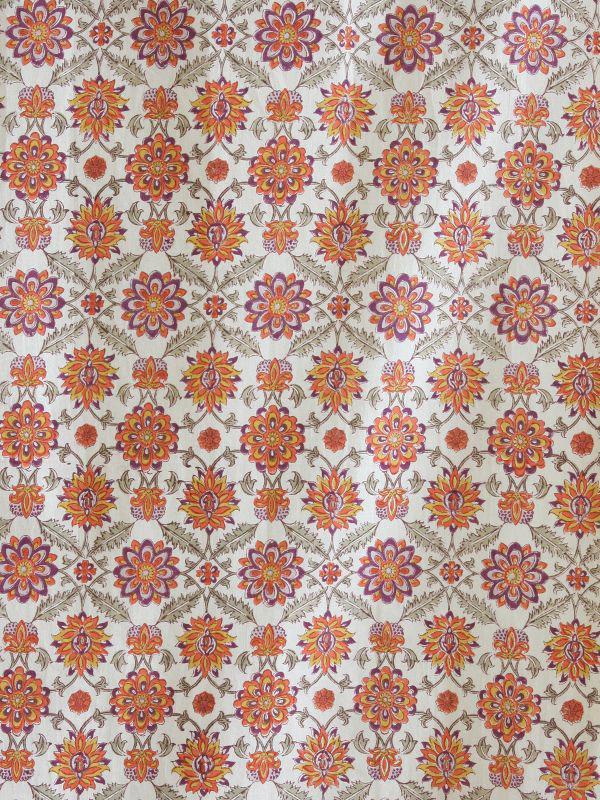 Orange fabric swatch Mediterranean Vintage  Saffron