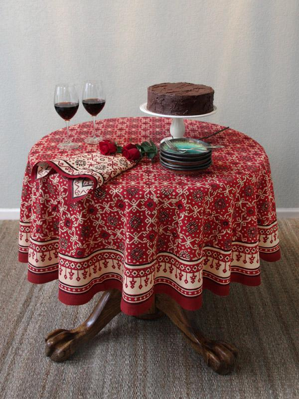 Red Tablecloth Holiday Tablecloth Decorative Tablecloth 90 Round Tablecloth 70 Round