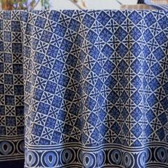 Round Wooden Kitchen Table Nooks For Sale Blue Tablecloth, Batik India 90 ...