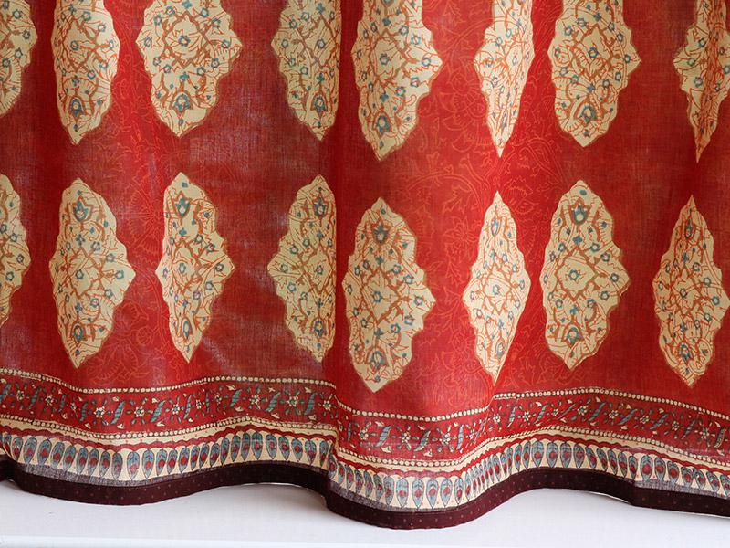 Moroccan kitchen curtains Red Orange India  Saffron