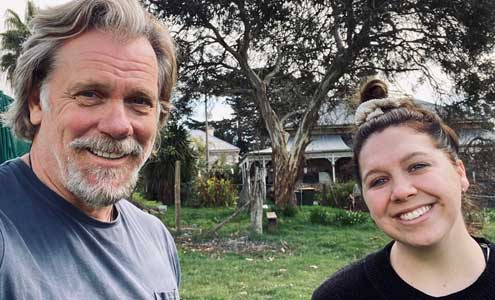 Erik Thomson and Natalie Abbott on location in SA for Aftertaste