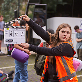 Behind the scenes of First Day (2020), image supplied