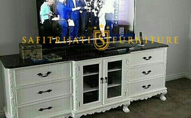 Meja Tv Murah Putih Terbaru Jepara Safitri Jati Furniture