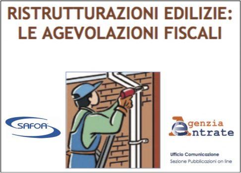 Guida del Fisco per il bonus lavori di recupero edilizio