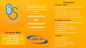 Seminario WEB MARKETING PER AMMINISTRATORI DI CONDOMINIO - Os Informatica