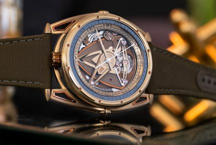 A dive watch in a fiery hue from DeBethune