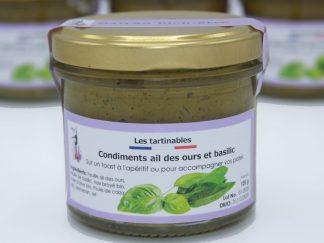 Condiment ail des ours & basilic, 120 grs.