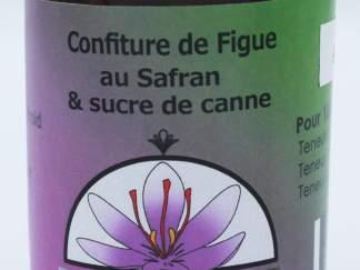 Confiture allégée de figues au safran et sucre de canne bio