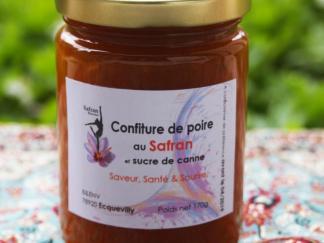 Confiture allégée de poire au safran et sucre de canne