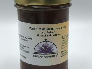 Confiture Reine Claude au safran et sucre de canne