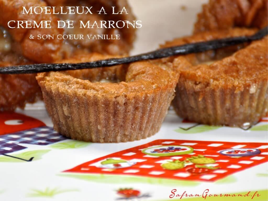 Moelleux à la Crème de Marrons & son Coeur Vanille