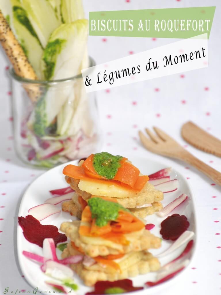 Biscuits au Roquefort & Légumes du Moment