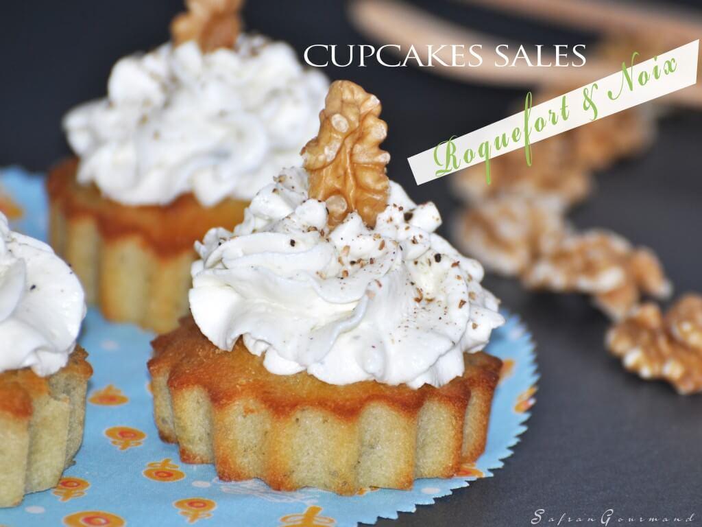 Cupcakes salés Noix & Roquefort
