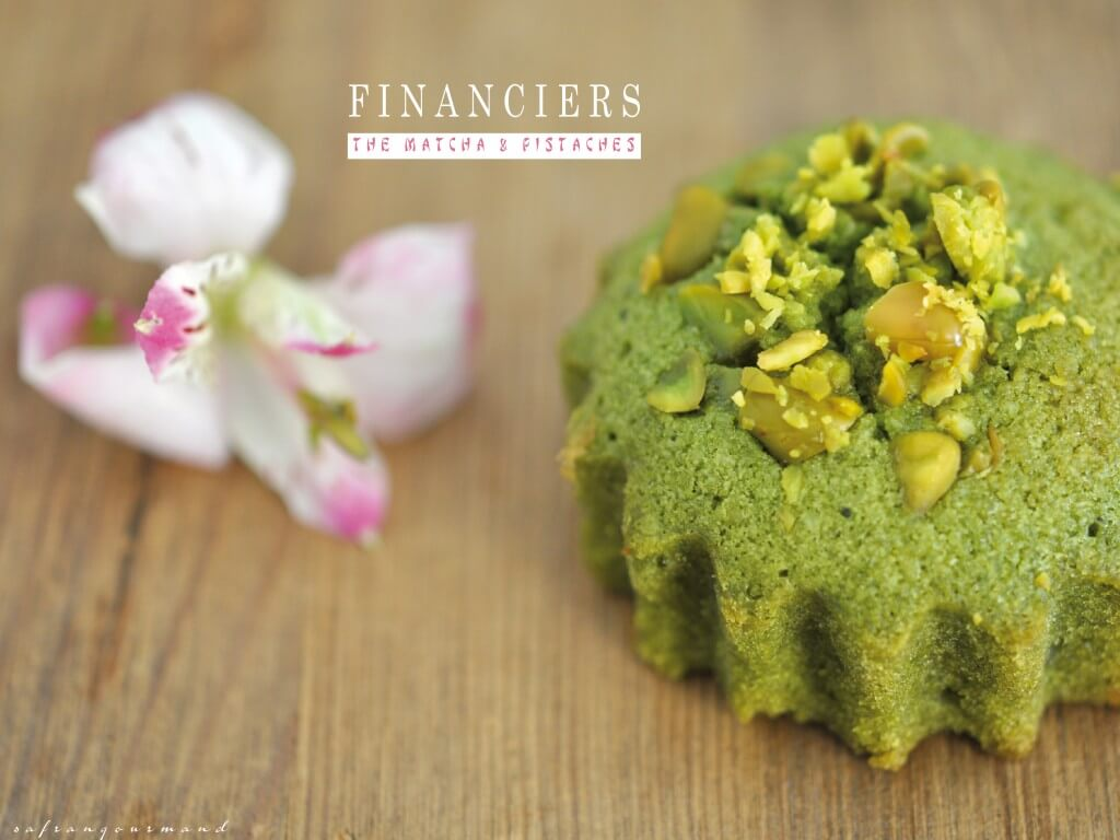Financiers au Thé Matcha & Pistaches