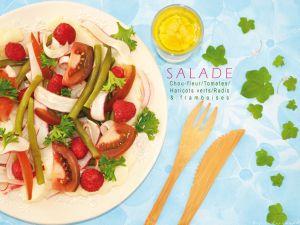 1-salade-chou-fleur-tomates-haricots-verts-framboises
