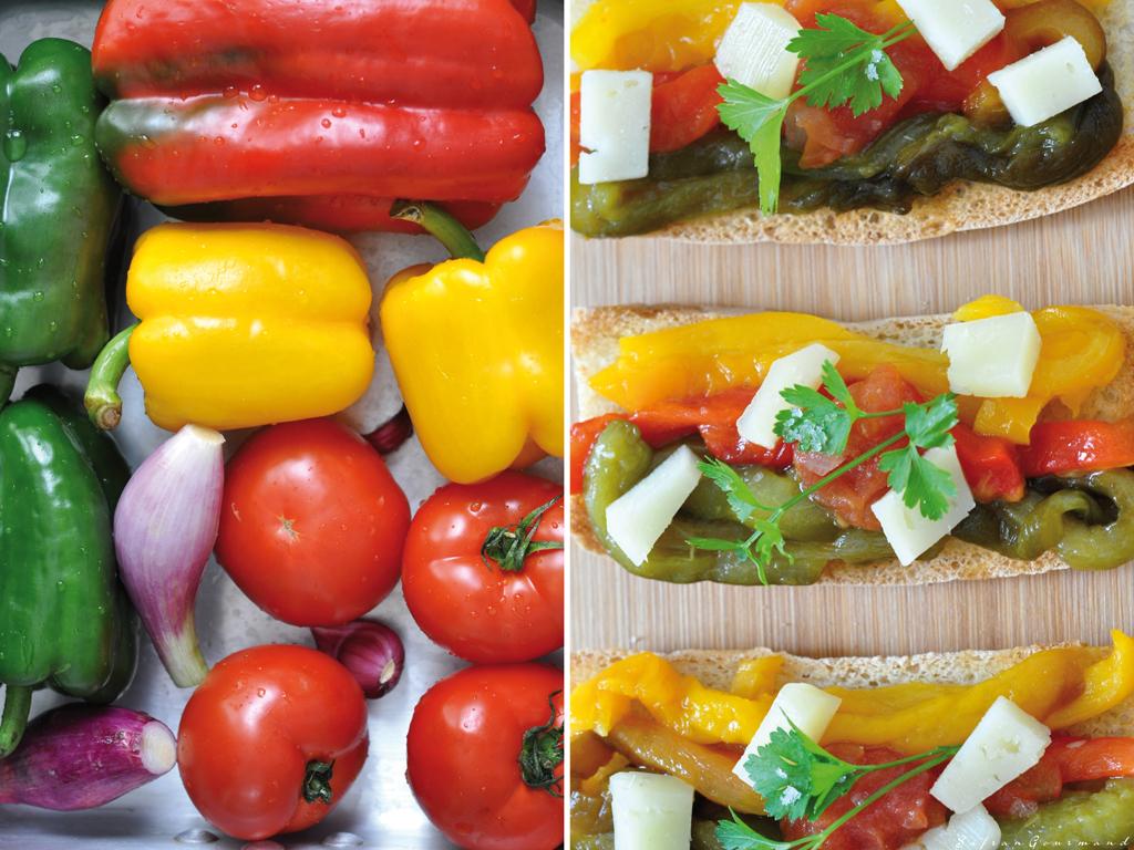 Tartines {Poivrons-Tomates} & Fromage de Brebis