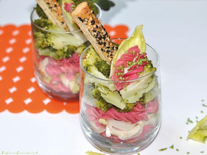 Salade (endives, brocolis, pâtes)