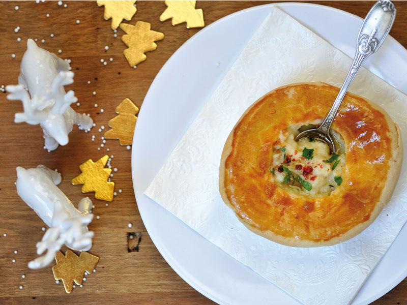 Soupe'Pie de Topinambours & Huile de Truffe : Entrée [Menu de Noël]