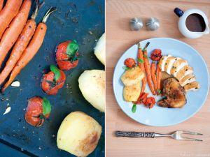Dinde mijotée façon Tajine & Légumes rôtis à la Fleur d'Oranger