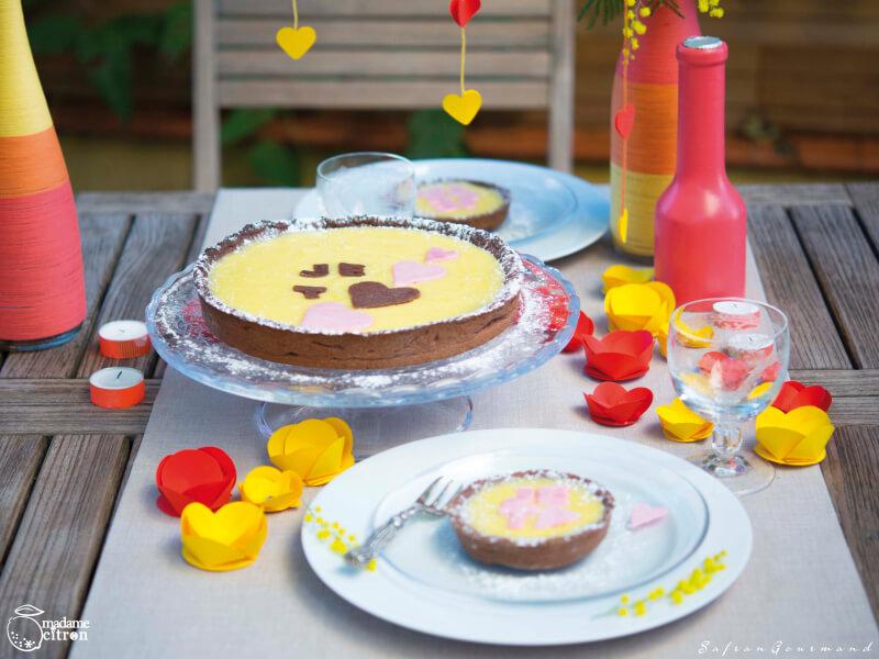 Tarte Chocolat au Lemon Curd - St Valentin