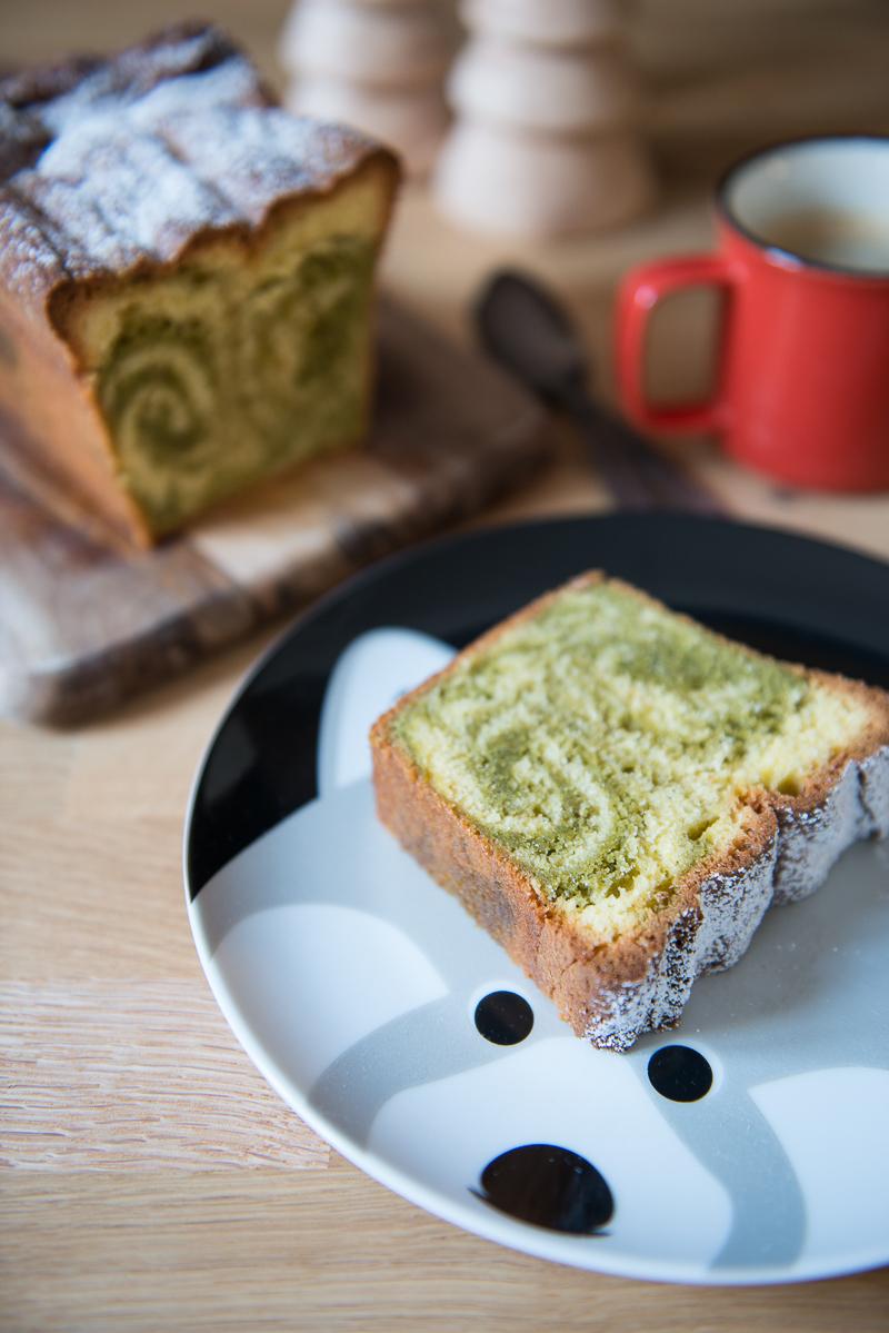 Cake Marbré au Thé Matcha