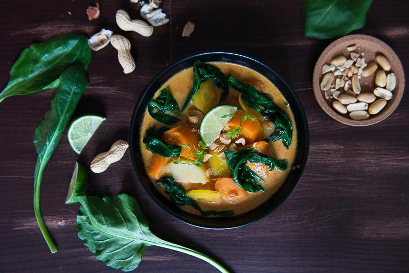 Curry Rouge aux Légumes