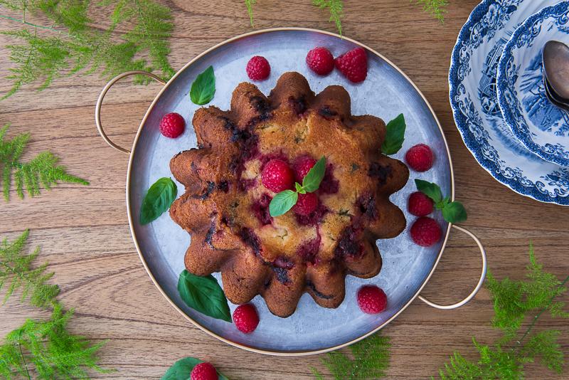 Cake Framboises & Basilic