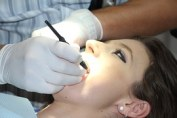 woman in dental care