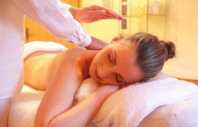 woman having spa