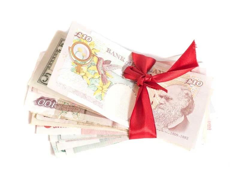 Giving Money As A Gift Saga