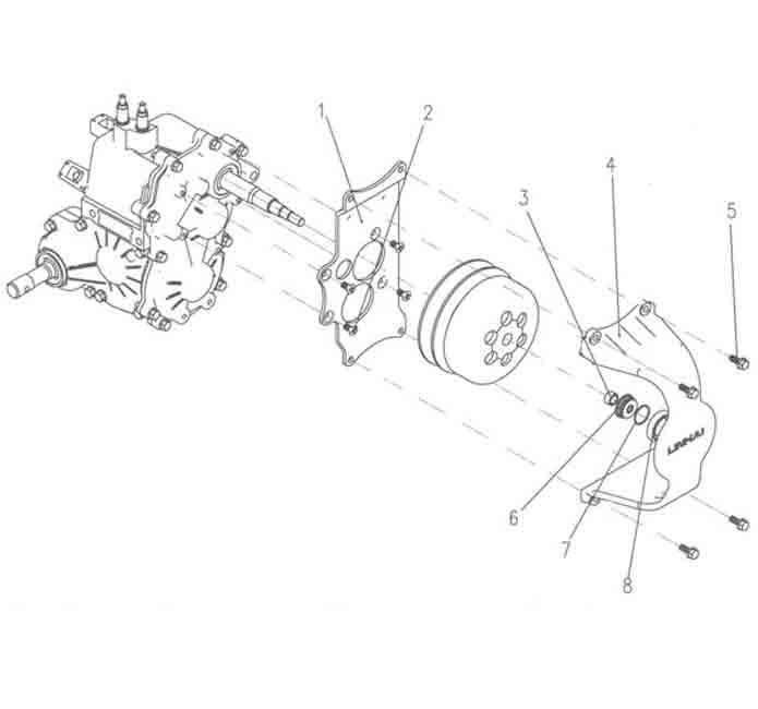 Силовая подставка для муфты сцепления в сборе
